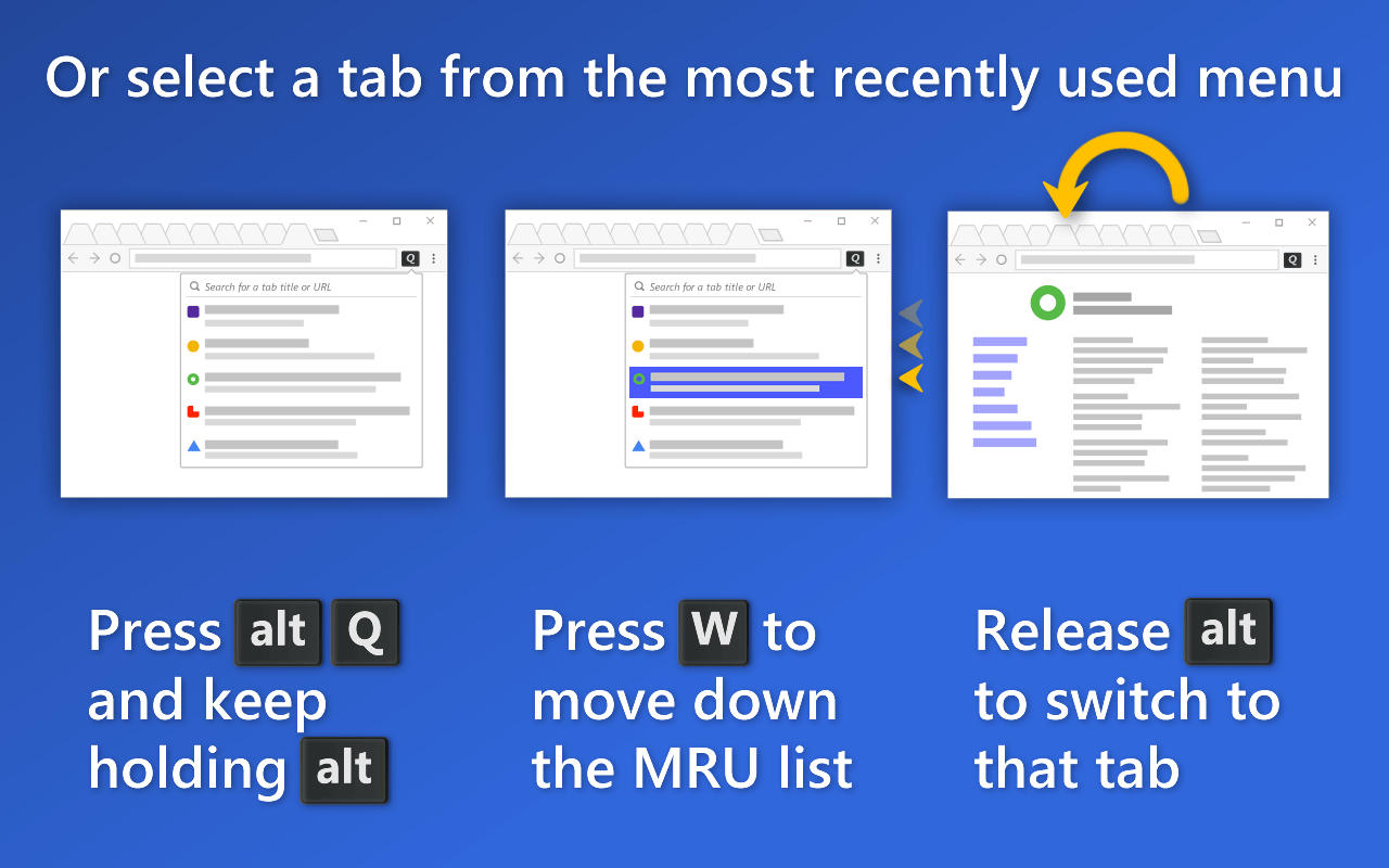 QuicKey | Jump between recent tabs in Chrome via keyboard or